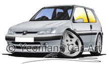 Load image into Gallery viewer, Peugeot 106 Quiksilver - Caricature Car Art Print