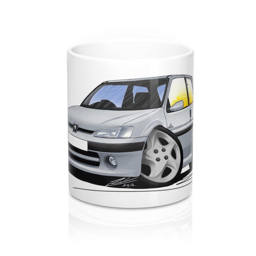 Peugeot 106 Quiksilver - Caricature Car Art Coffee Mug