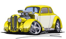 Load image into Gallery viewer, Plymouth Coupe (1936) (Yeo-A) - Caricature Car Art Print