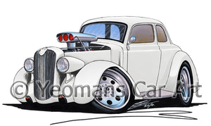 Plymouth Coupe (1936) (Yeo-B) - Caricature Car Art Print