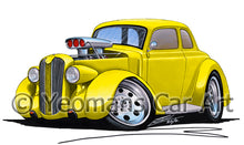 Load image into Gallery viewer, Plymouth Coupe (1936) (Yeo-B) - Caricature Car Art Print
