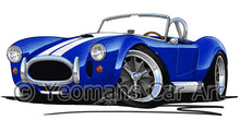 Load image into Gallery viewer, AC Cobra (with Stripes) - Caricature Car Art Coffee Mug