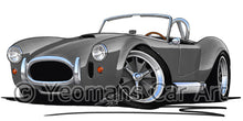 Load image into Gallery viewer, AC Cobra - Caricature Car Art Print