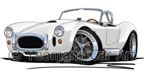AC Cobra - Caricature Car Art Print