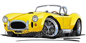 AC Cobra - Caricature Car Art Coffee Mug