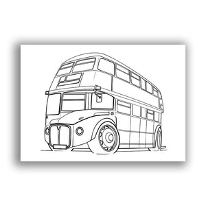 Routemaster Bus - Free Colouring Sheet