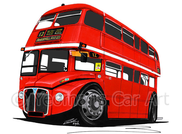 AEC Routemaster Bus - Caricature Car Art Coffee Mug