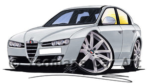 Alfa Romeo 159 - Caricature Car Art Print