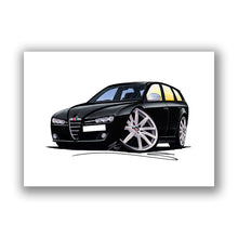 Load image into Gallery viewer, Alfa Romeo 159 Sportwagon - Caricature Car Art Print