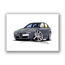 Load image into Gallery viewer, Alfa Romeo 159 - Caricature Car Art Print