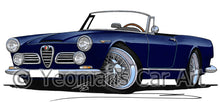 Load image into Gallery viewer, Alfa Romeo 2600 Spider - Caricature Car Art Print