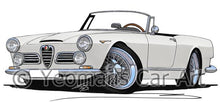 Load image into Gallery viewer, Alfa Romeo 2600 Spider - Caricature Car Art Coffee Mug