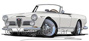 Alfa Romeo 2600 Spider - Caricature Car Art Coffee Mug