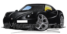 Load image into Gallery viewer, Alfa Romeo 4C - Caricature Car Art Print