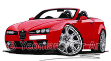 Load image into Gallery viewer, Alfa Romeo Brera Spider - Caricature Car Art Print