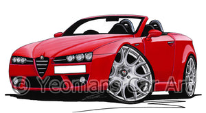 Alfa Romeo Brera Spider - Caricature Car Art Print
