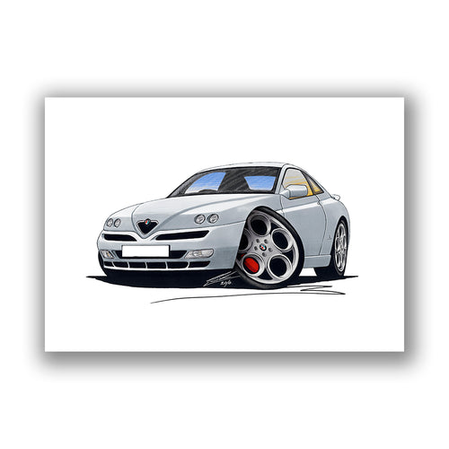 Alfa Romeo GTV - Caricature Car Art Print