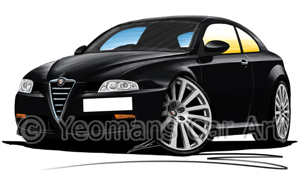 Alfa Romeo GT - Caricature Car Art Print