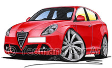 Load image into Gallery viewer, Alfa Romeo Giulietta - Caricature Car Art Print