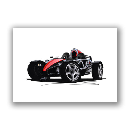 Ariel Atom - Caricature Car Art Print