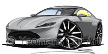 Load image into Gallery viewer, Aston Martin DB10 - Caricature Car Art Print