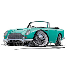 Load image into Gallery viewer, Aston Martin DB5 Convertible - Caricature Car Art Print