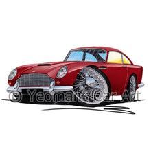Load image into Gallery viewer, Aston Martin DB5 - Caricature Car Art Print