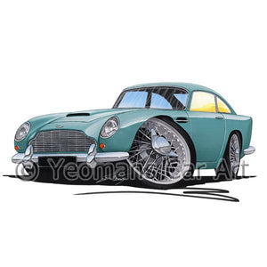 Aston Martin DB5 - Caricature Car Art Coffee Mug