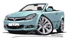 Load image into Gallery viewer, Vauxhall Astra (Mk5) Twin Top - Caricature Car Art Print