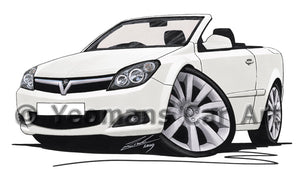 Vauxhall Astra (Mk5) Twin Top - Caricature Car Art Print