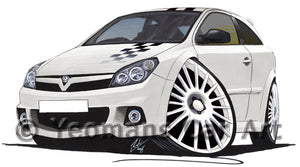 Vauxhall Astra (Mk5) VXR Nurburgring Edition - Caricature Car Art Print