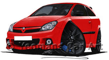 Load image into Gallery viewer, Vauxhall Astra (Mk5) VXRacing Edition - Caricature Car Art Print