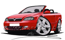 Load image into Gallery viewer, Vauxhall Astra (Mk4) Convertible - Caricature Car Art Print