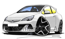 Load image into Gallery viewer, Vauxhall Astra (Mk6) VXR - Caricature Car Art Print