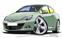 Load image into Gallery viewer, Vauxhall Astra (Mk6) GTC - Caricature Car Art Coffee Mug