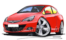 Load image into Gallery viewer, Vauxhall Astra (Mk6) GTC - Caricature Car Art Print