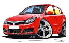 Load image into Gallery viewer, Vauxhall Astra (Mk5) SRi (5dr) - Caricature Car Art Print