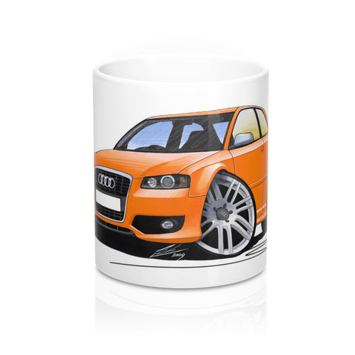 Audi S3 (Mk2) - Caricature Car Art Coffee Mug