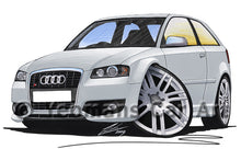 Load image into Gallery viewer, Audi S3 (Mk2) - Caricature Car Art Print