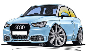 Audi A1 - Caricature Car Art Print