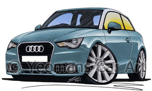 Audi A1 - Caricature Car Art Coffee Mug