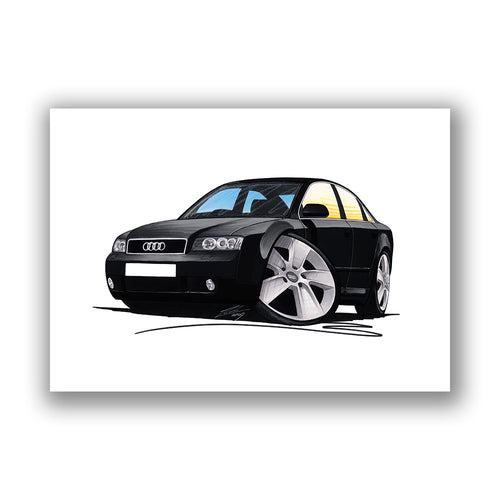 Audi A4 (B6) - Caricature Car Art Print