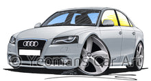 Load image into Gallery viewer, Audi A4 (B8) - Caricature Car Art Print