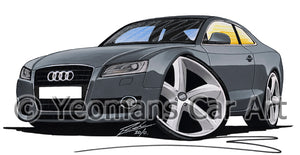 Audi A5 - Caricature Car Art Print