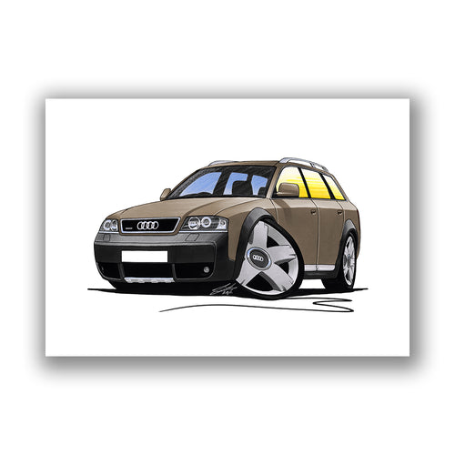 Audi A6 Allroad - Caricature Car Art Print