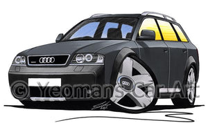 Audi A6 Allroad - Caricature Car Art Coffee Mug