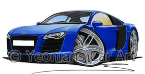 Audi R8 - Caricature Car Art Coffee Mug