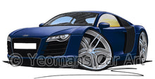 Load image into Gallery viewer, Audi R8 - Caricature Car Art Print