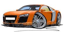 Load image into Gallery viewer, Audi R8 - Caricature Car Art Coffee Mug