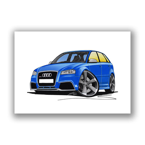 Audi RS3 - Caricature Car Art Print